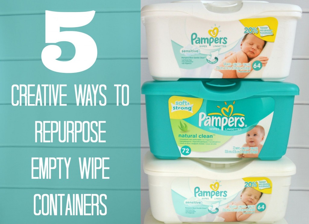 5 Creative Was to Repurpose Empty Wipe Containers