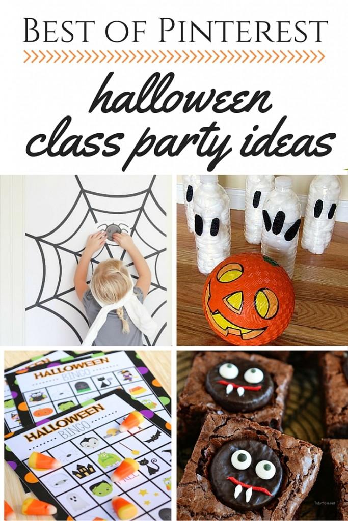 Best of Pinterest- Halloween Class Party Ideas