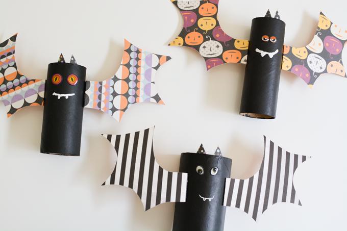 Toilet Paper Roll Halloween Bats