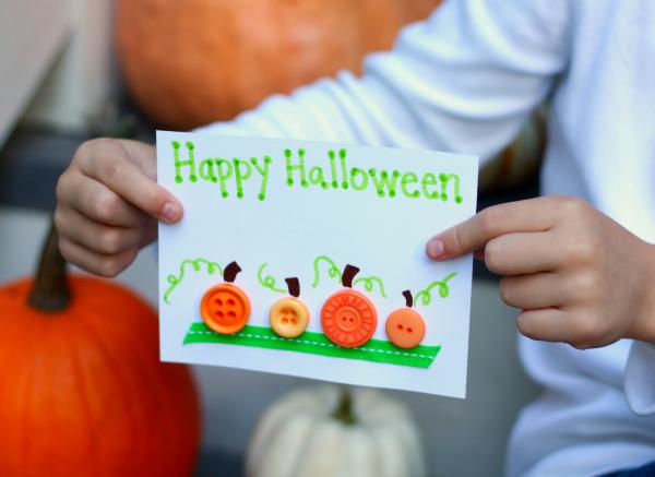 Easy Pumpkin Halloween Cards