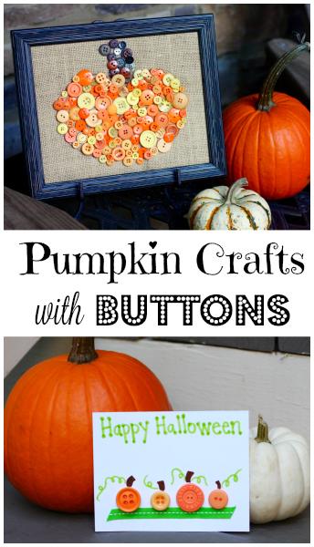 Easy Button Pumpkin Crafts