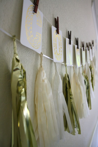 Gold Paper Garland from Elliewood Collections