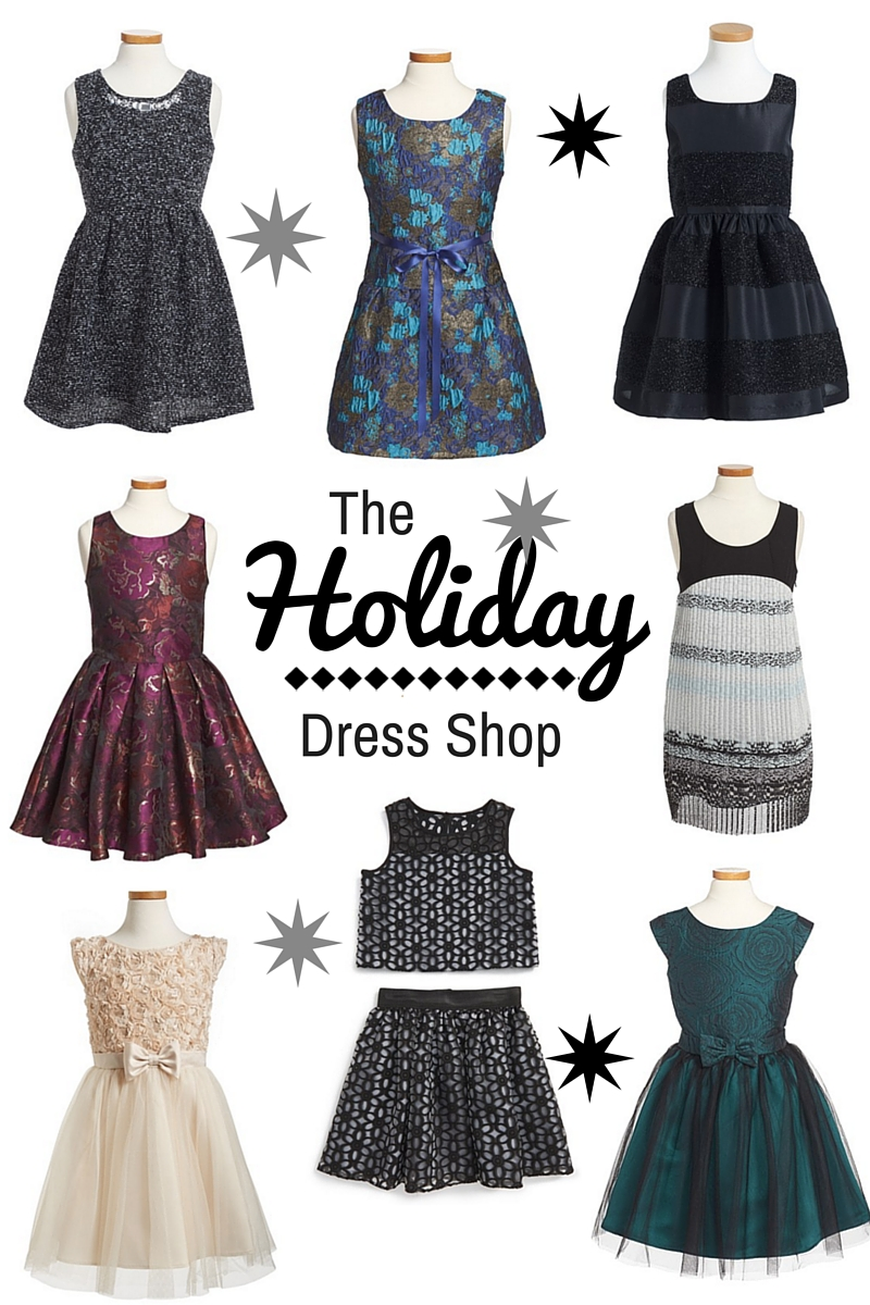 Girls Holiday Dresses that Shine