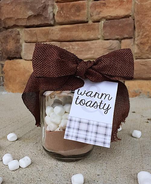 Hot Chocolate Mason Jar Gift with Printable Tag