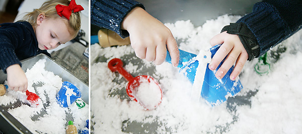 DIY Play Snow for Kids