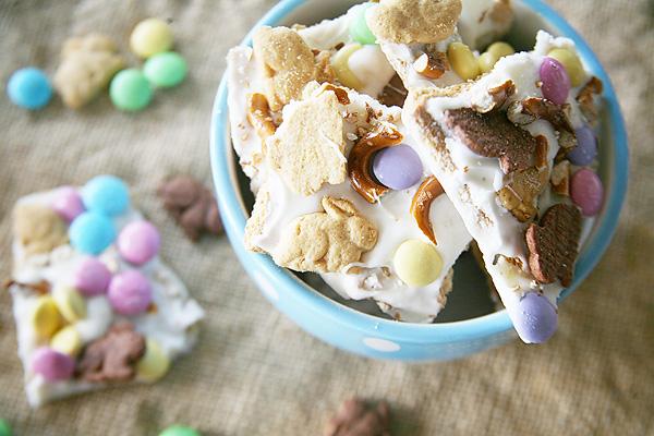 Easy, No-Bake Bunny Bark as an Easter Dessert