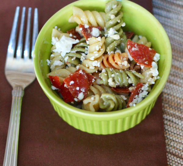 Quick and Easy Pepperoni Pasta Salad