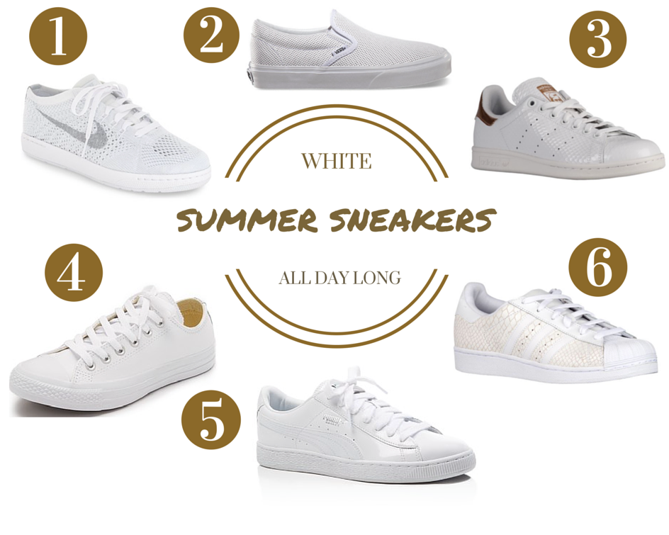 6 White Sneakers We Love for Summer