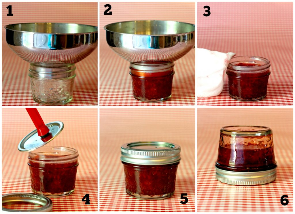How To Can Jar Homemade Strawberry Preserves steps