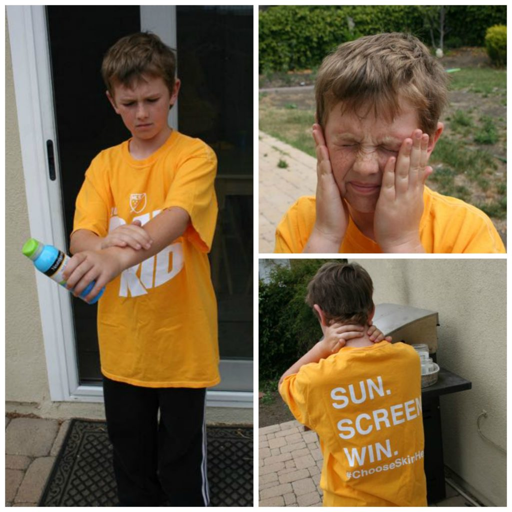How to teach kids to put on sunscreen themselves