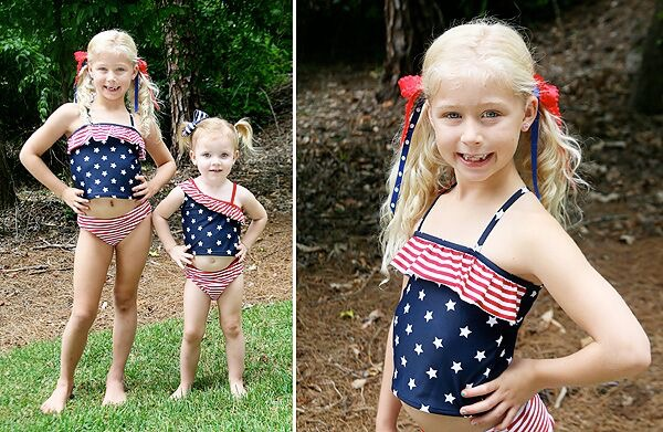 4th of July Swimsuits for Girls