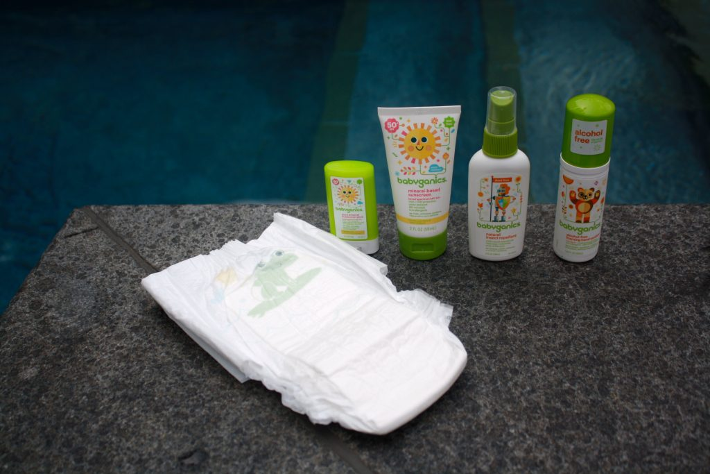 Babyganics swim diaper and lotions