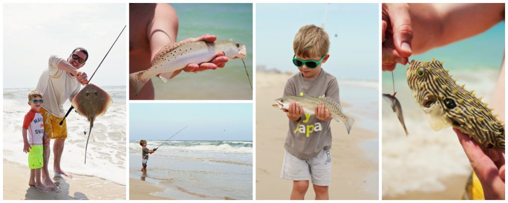 fishing with kids on St George Island