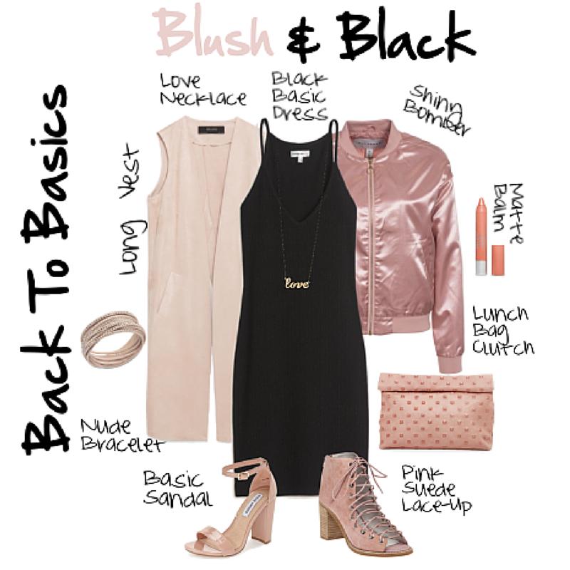 Blush and Black Fashion
