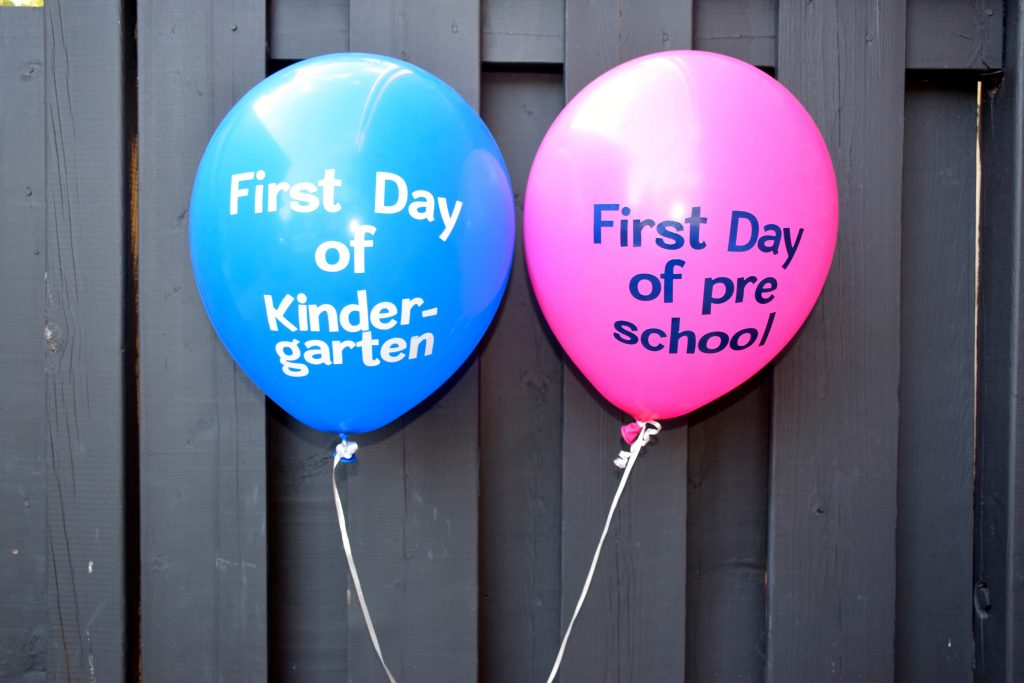 First Day of School Balloons