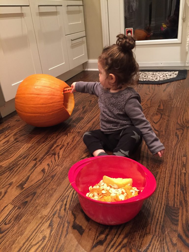 How to carve a pumpkin with kids