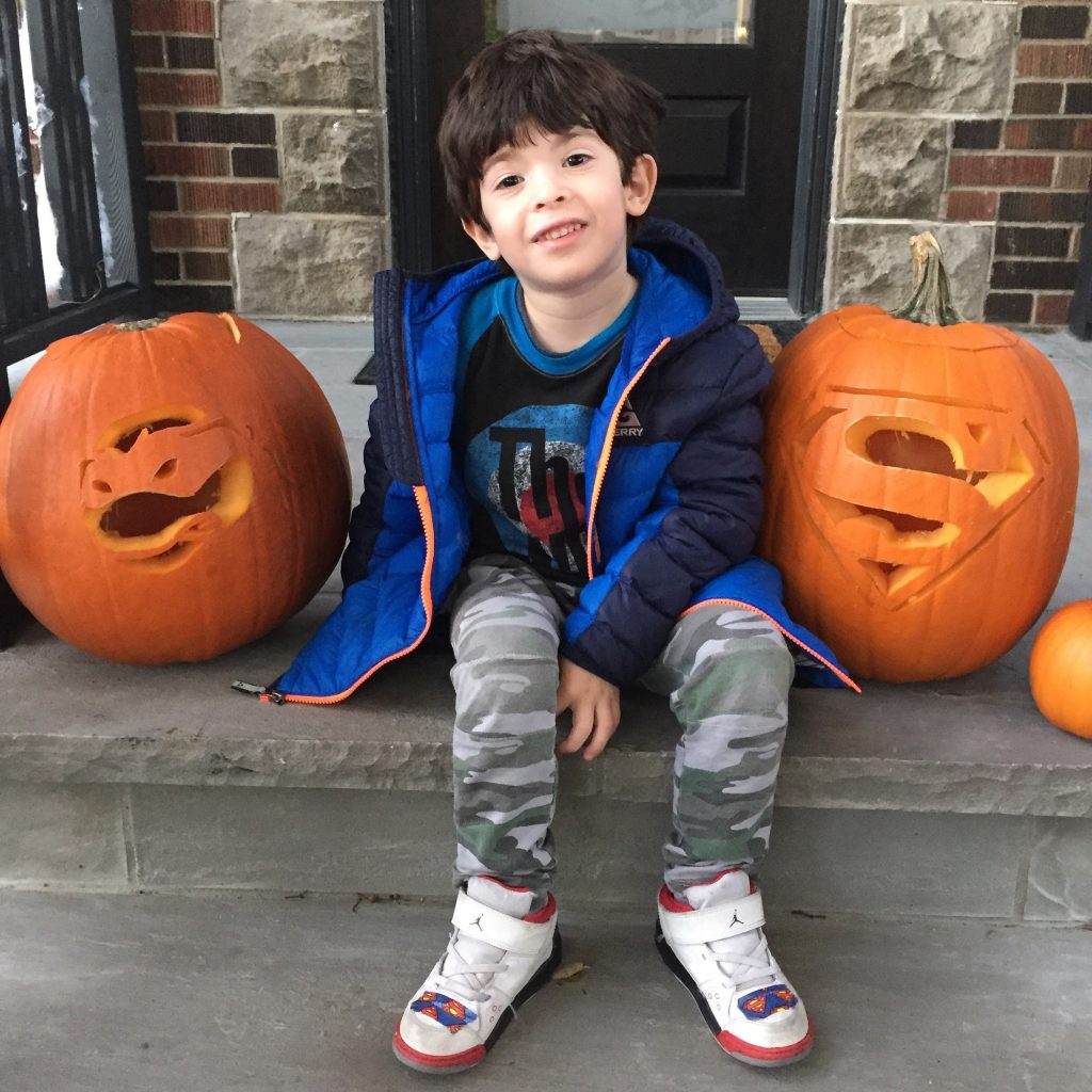 Pumpkin carving with stencils