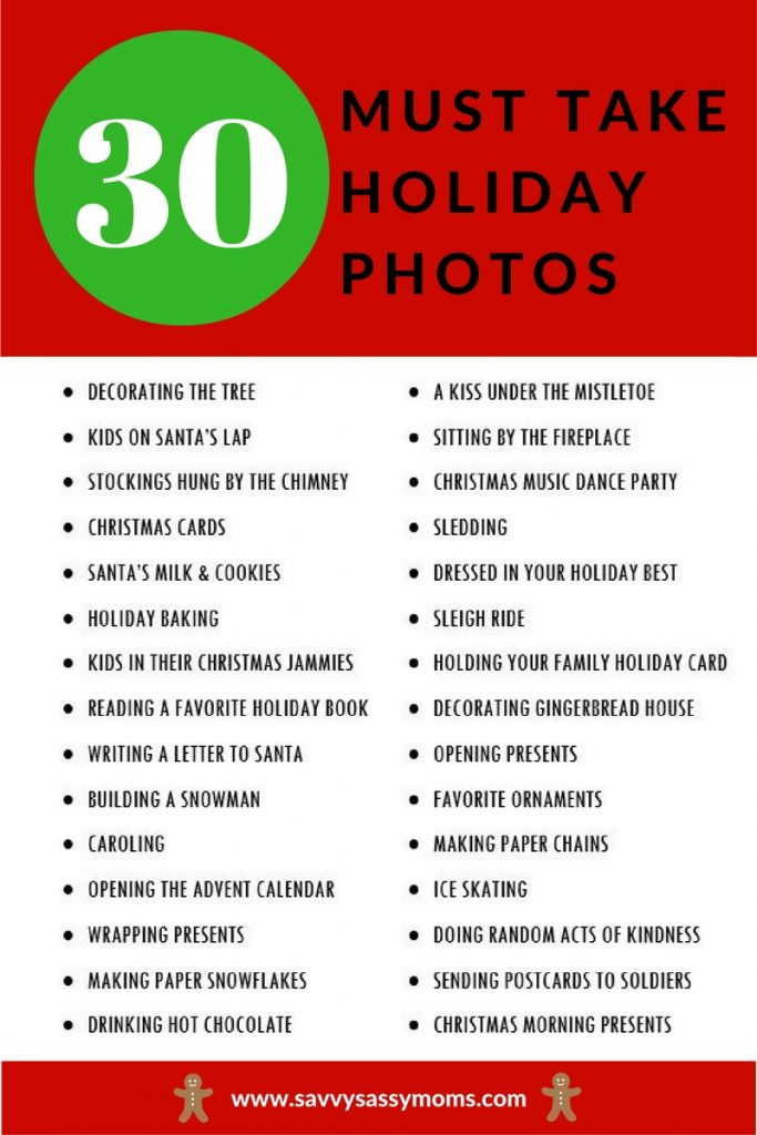 30 Must-Take Holiday Photos