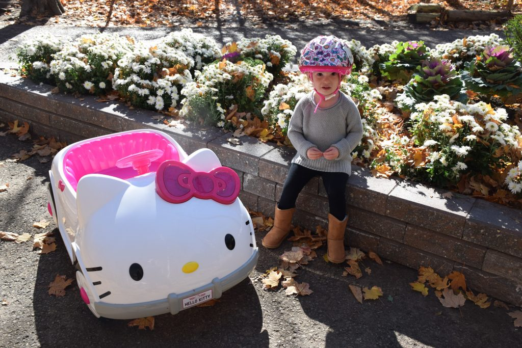 Driving with Hello Kitty Car