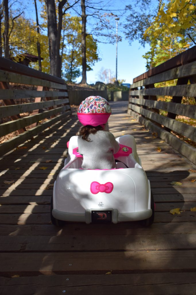 Driving the Hello Kitty 6V Car
