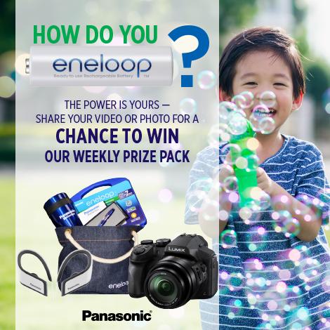Win the Panasonic Giveaway with enloop Batteries