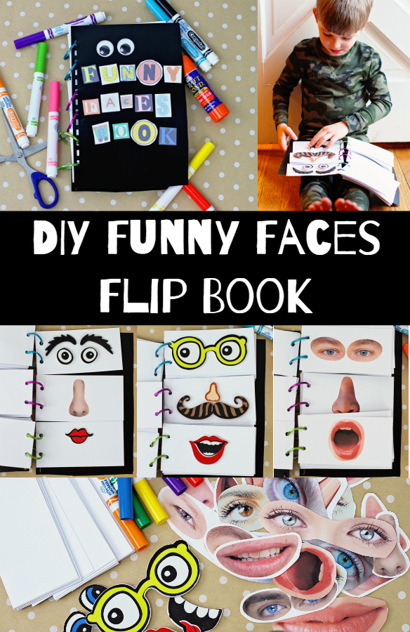 DIY Flip Book with Funny Faces