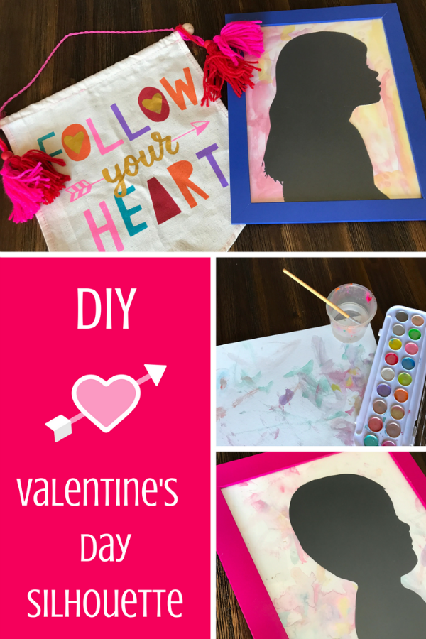 DIY Silhouette for Valentine's Day