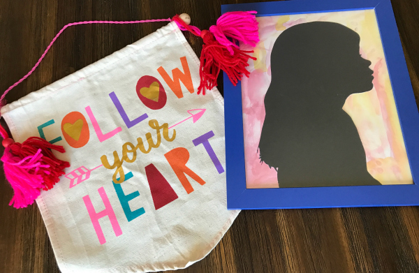 DIY Silhouette for Valentine's Day Gifts