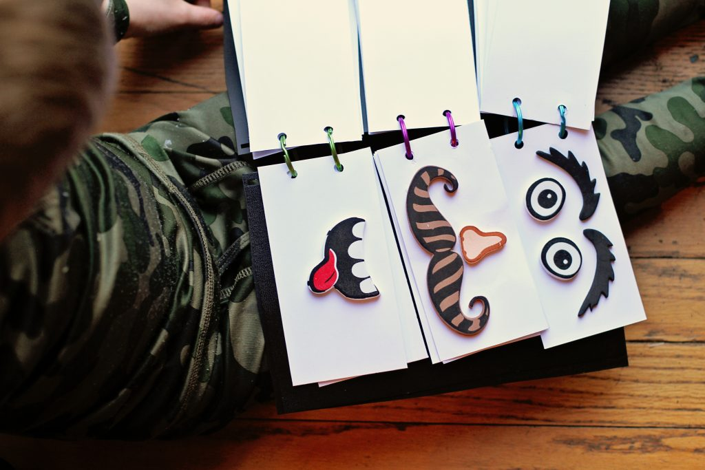 how to make your own funny faces flip book for kids