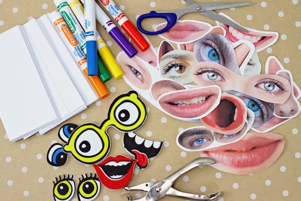 DIY Funny Faces Flip Book