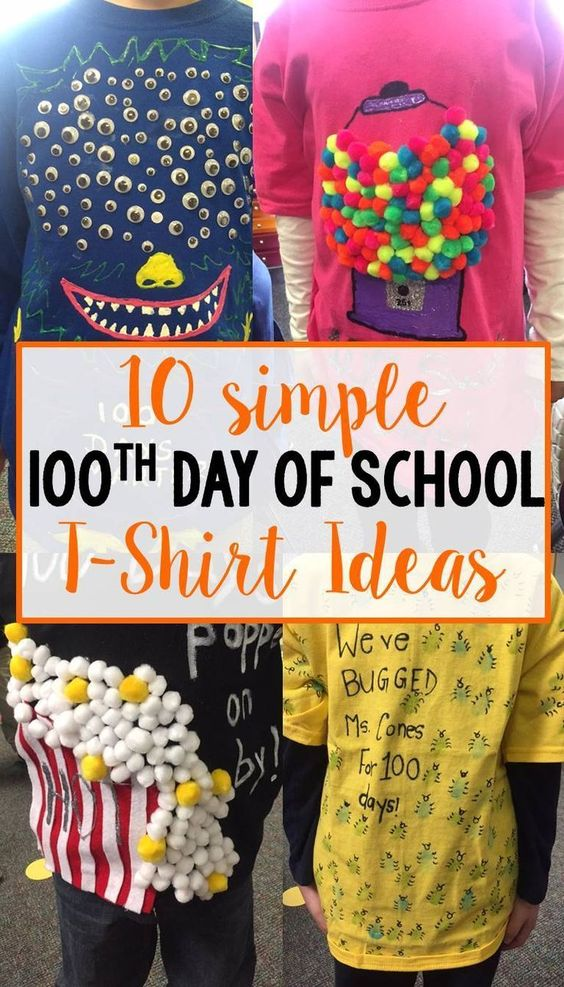 100 Day of School T-Shirt Ideas