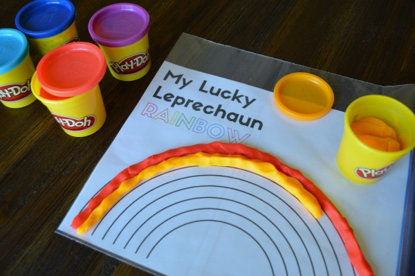 My Lucky Leprechaun Rainbow Play-Doh Mat