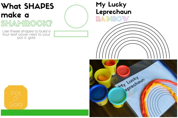 Free Printable St. Patrick's Day Play-Doh Mats