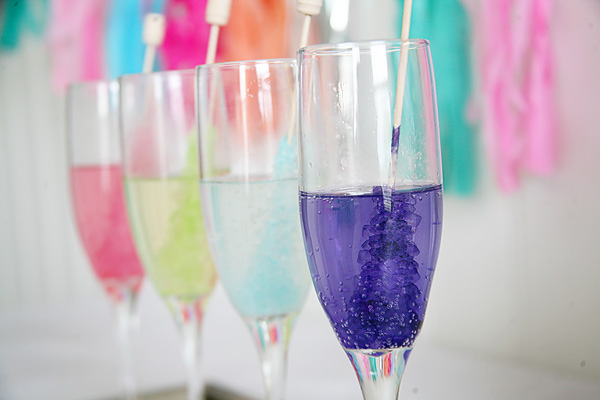 Rock Candy champagne cocktail recipe
