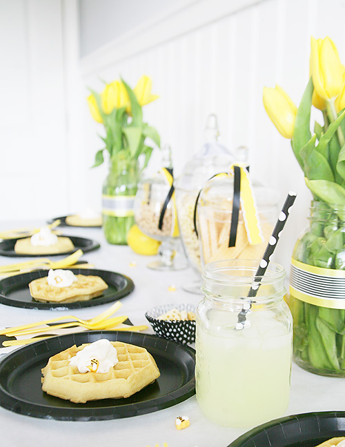 bee themed brunch party