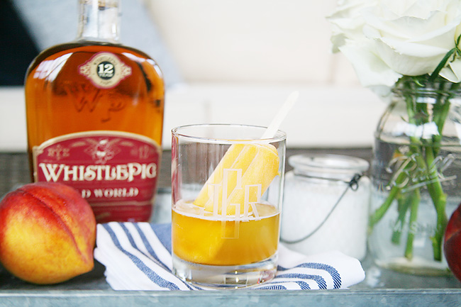 Bourbon Peach Poptail recipe