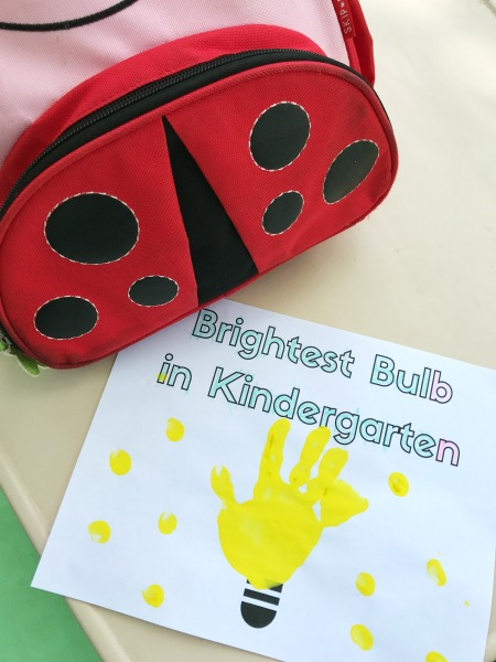 Simple back to school craft for kindergarteners