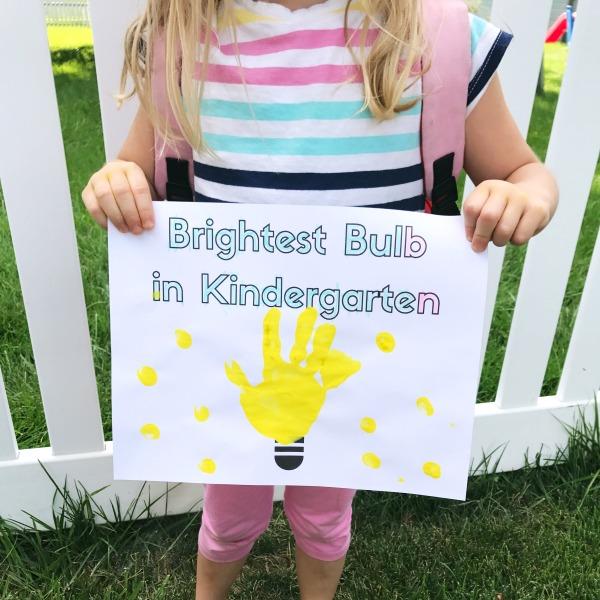 Back to school craft for kindergarteners