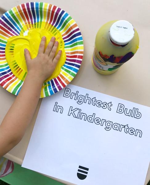 DIY back to school craft for kindergarteners