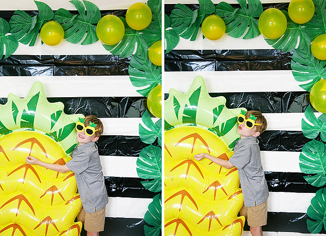Pineapple themed Photo Booth for a pineapple party.