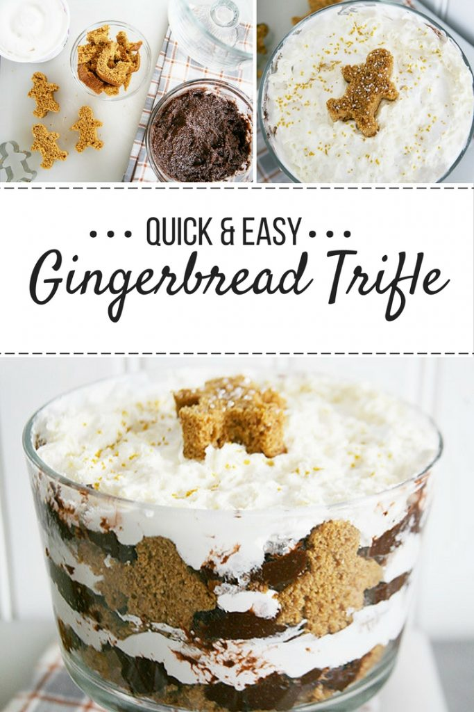 Gingerbread Trifle - a quick and easy holiday dessert recipe.
