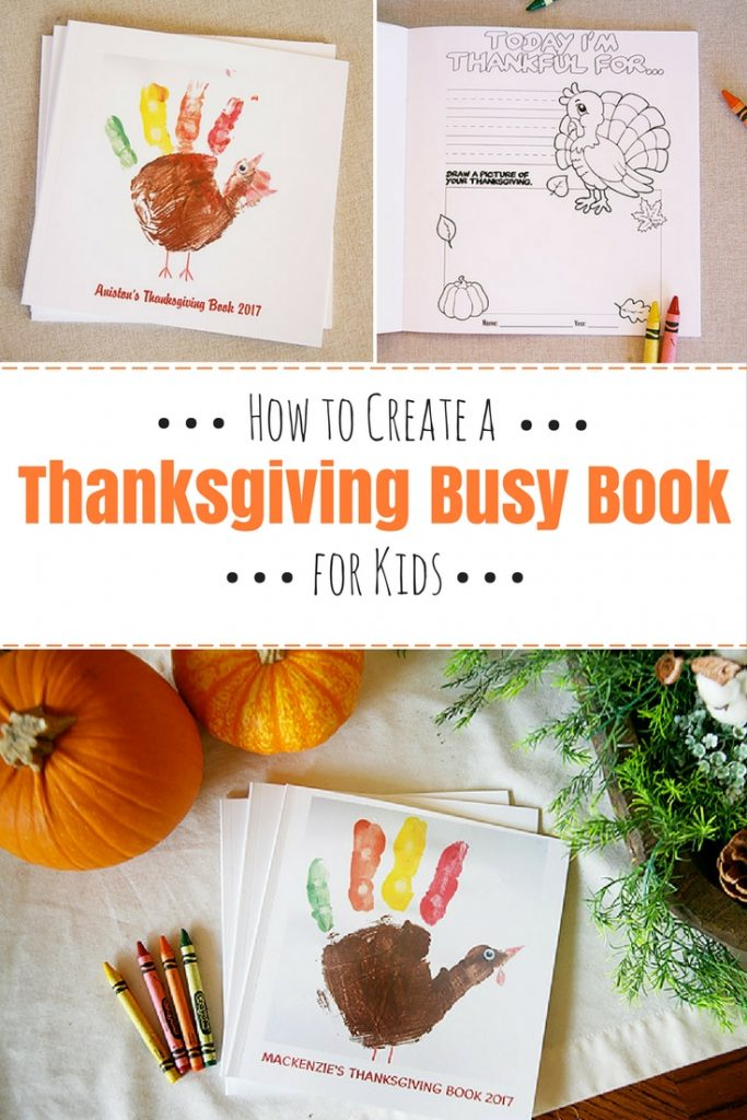 How to create a Thanksgiving Busy Book for kids. Great for entertaining kids through a long Thanksgiving meal!