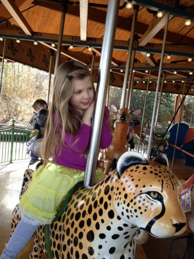 theme park with kids